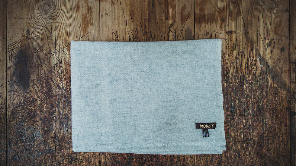 Large Soft Grey Cashmere Scarf