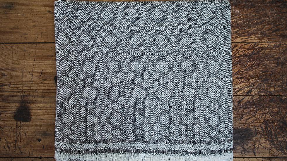 Taupe Circle Fine Wool Throw