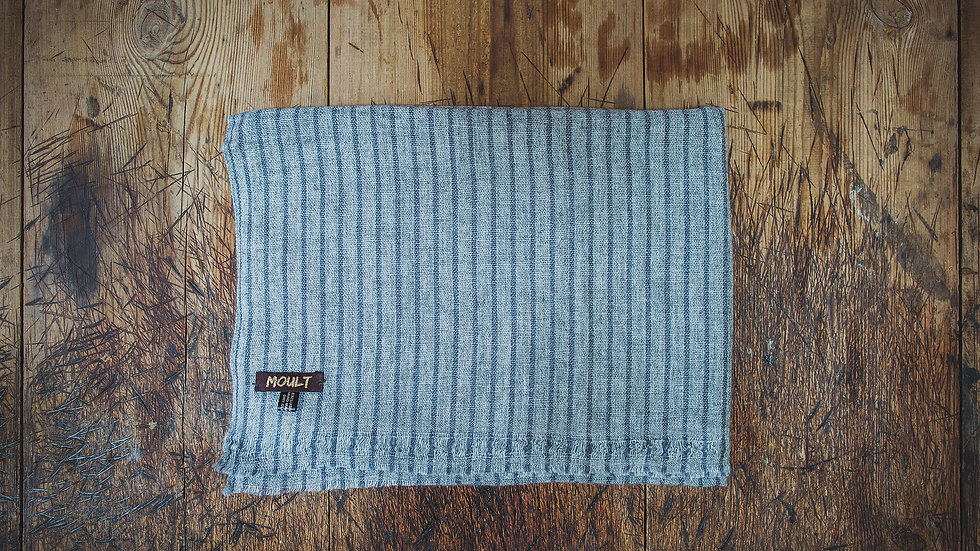 Large Grey Pinstripe Scarf