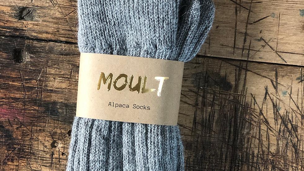 Grey Alpaca Socks