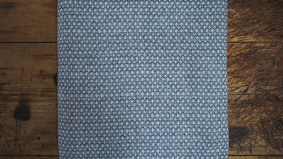 Blue Hash Fine Wool Throw