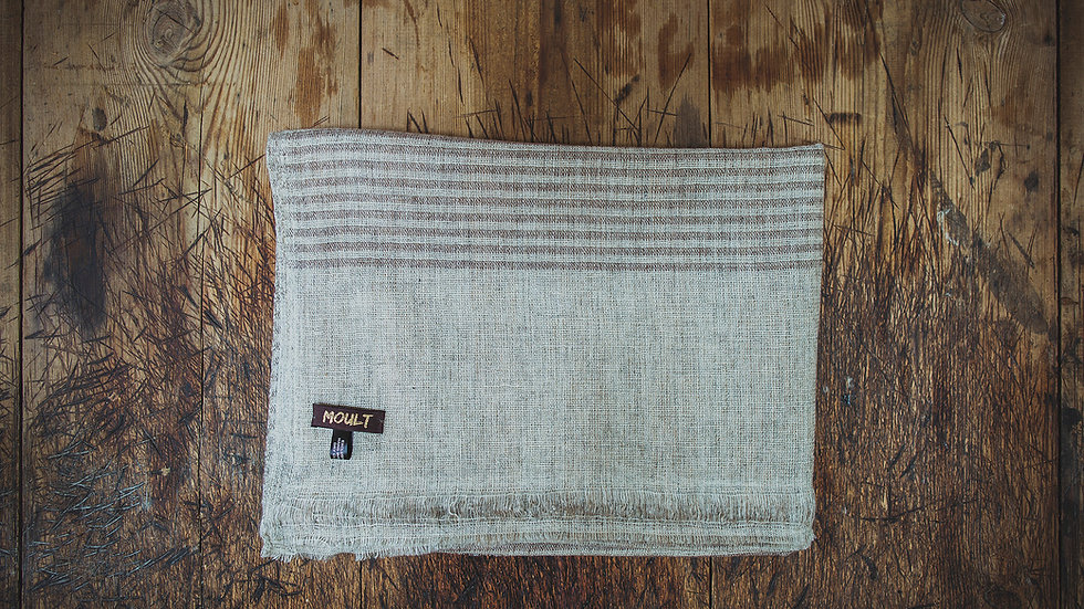 Large Brown Narrow Stripe Scarf