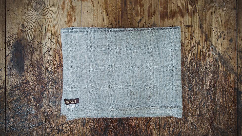 Large Grey Narrow Stripe Scarf