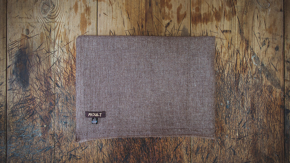 Large Plain Brown Scarf