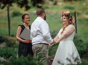 The Snowdonia Celebrant conducting a wedding ceremony in North Wales