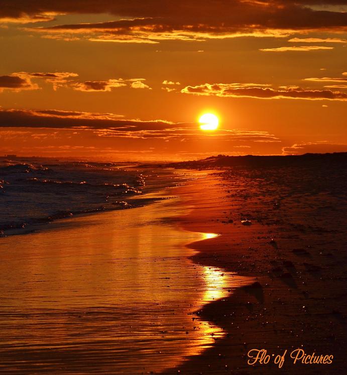 Sunset at Robert Moses Beach