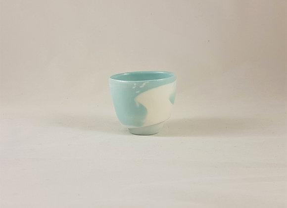 """Tasse à café en porcelaine """"expresso"""", coloris céladon"""