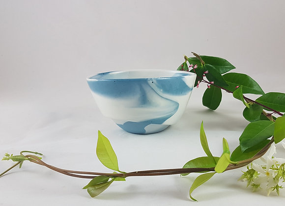 Bol en porcelaine, coloris bleu