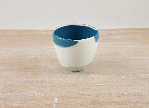 """Tasse à café en porcelaine """"expresso"""", coloris bleu foncé"""