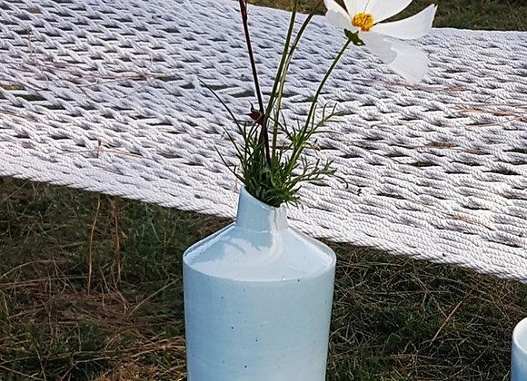 Soliflore en porcelaine mêlée blanc et bleu