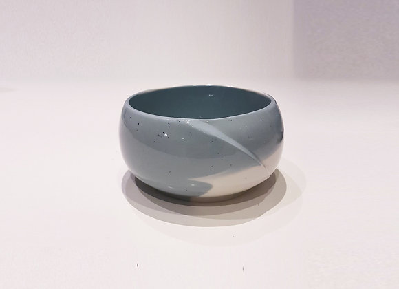 Bol zen en porcelaine, gris bleu