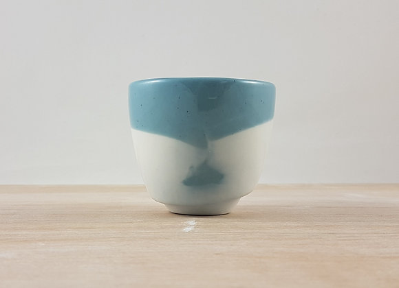 """Tasse à café en porcelaine """"expresso"""", coloris bleu"""