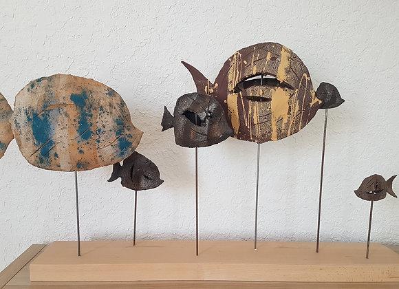 Sculpture, Le banc de poissons