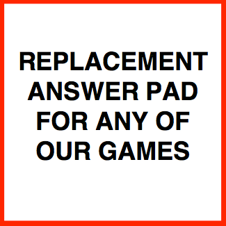 Replacement Answer / Score Pad