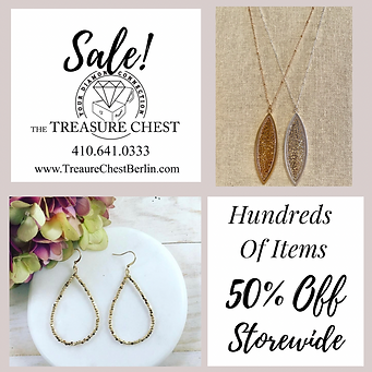 Storewide Sale At The Treasure Chest