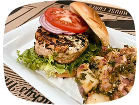 Spinach Feta Chicken Burger