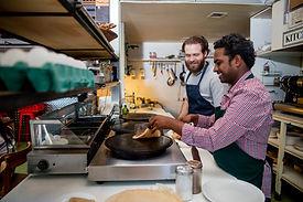 Men Making Crepes