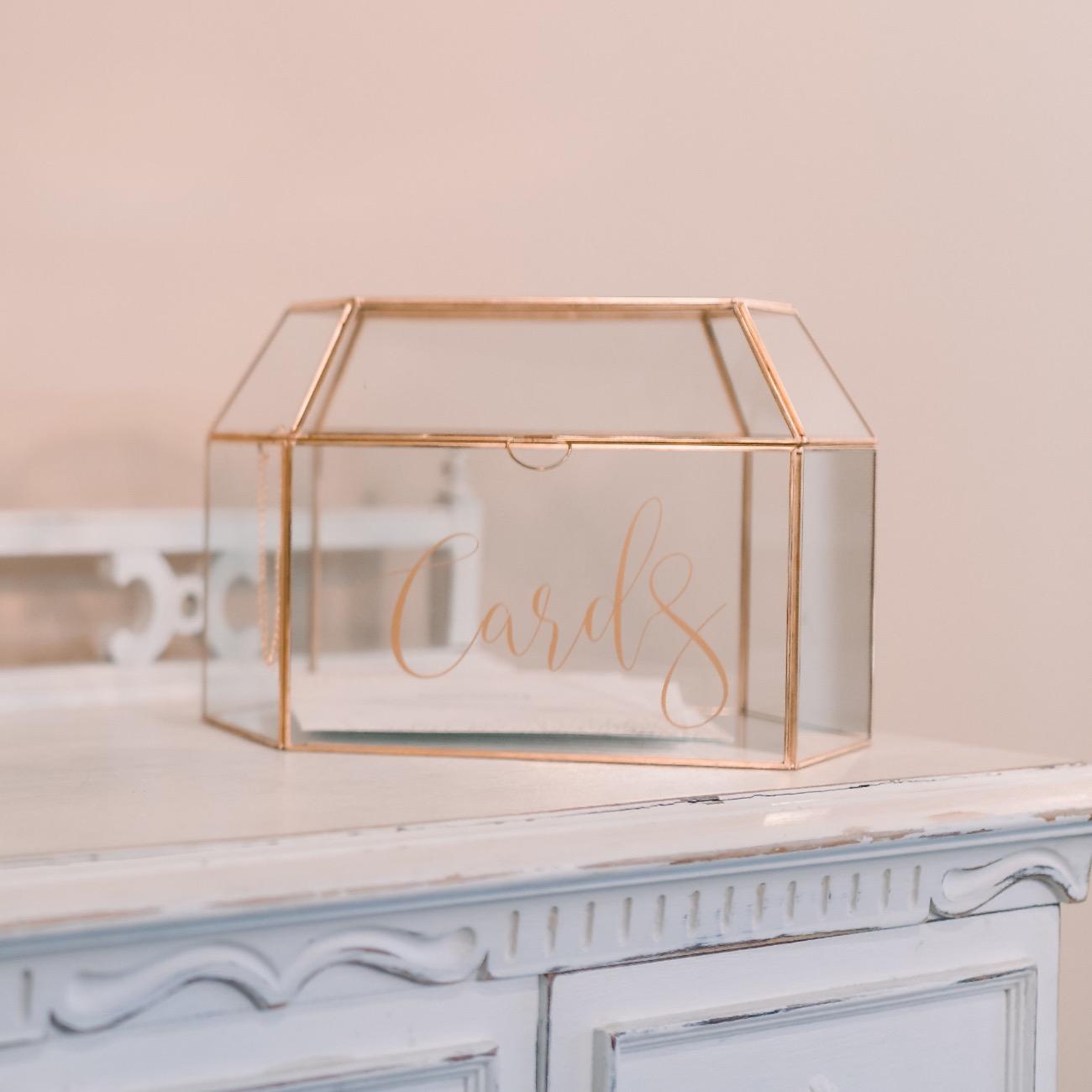 Glass Card Box