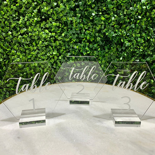 1-11 Plexi Glass Geometric Table Numbers