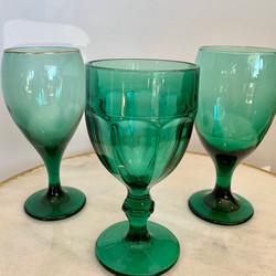Assorted Emerald Glasses