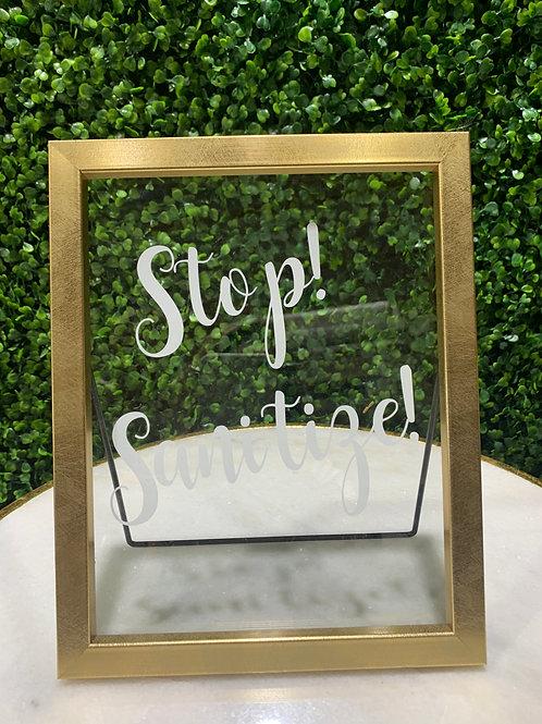 Sanitize Framed Sign