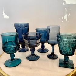 Assorted Dark Blue Glasses