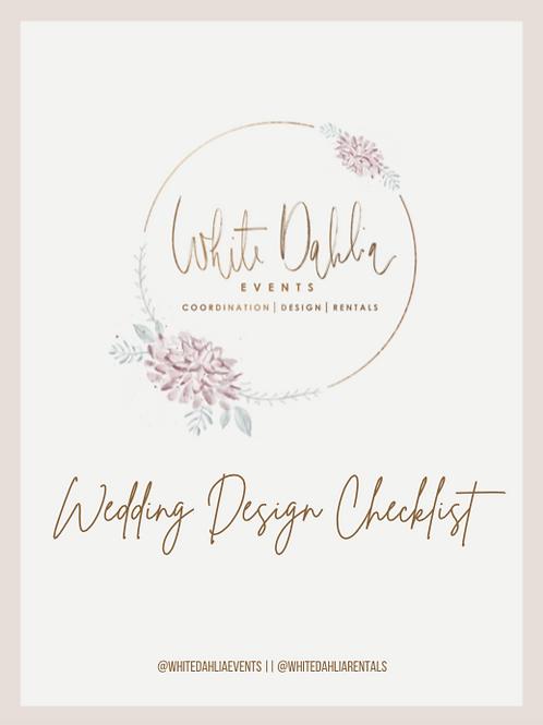 Wedding Design Checklist
