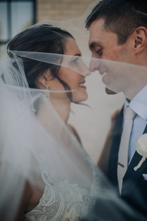 Journeyman Distillery Wedding Day Bride Groom Veil Photography