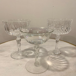 Crystal Champagne Coupes