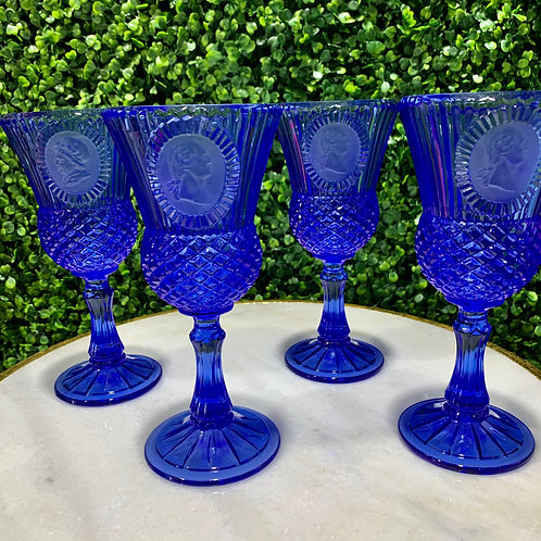 Vibrant Royal Blue Goblets
