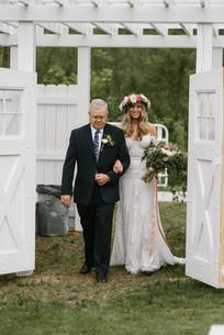 Bohemian Barn Wedding Ceremony Flower Crown