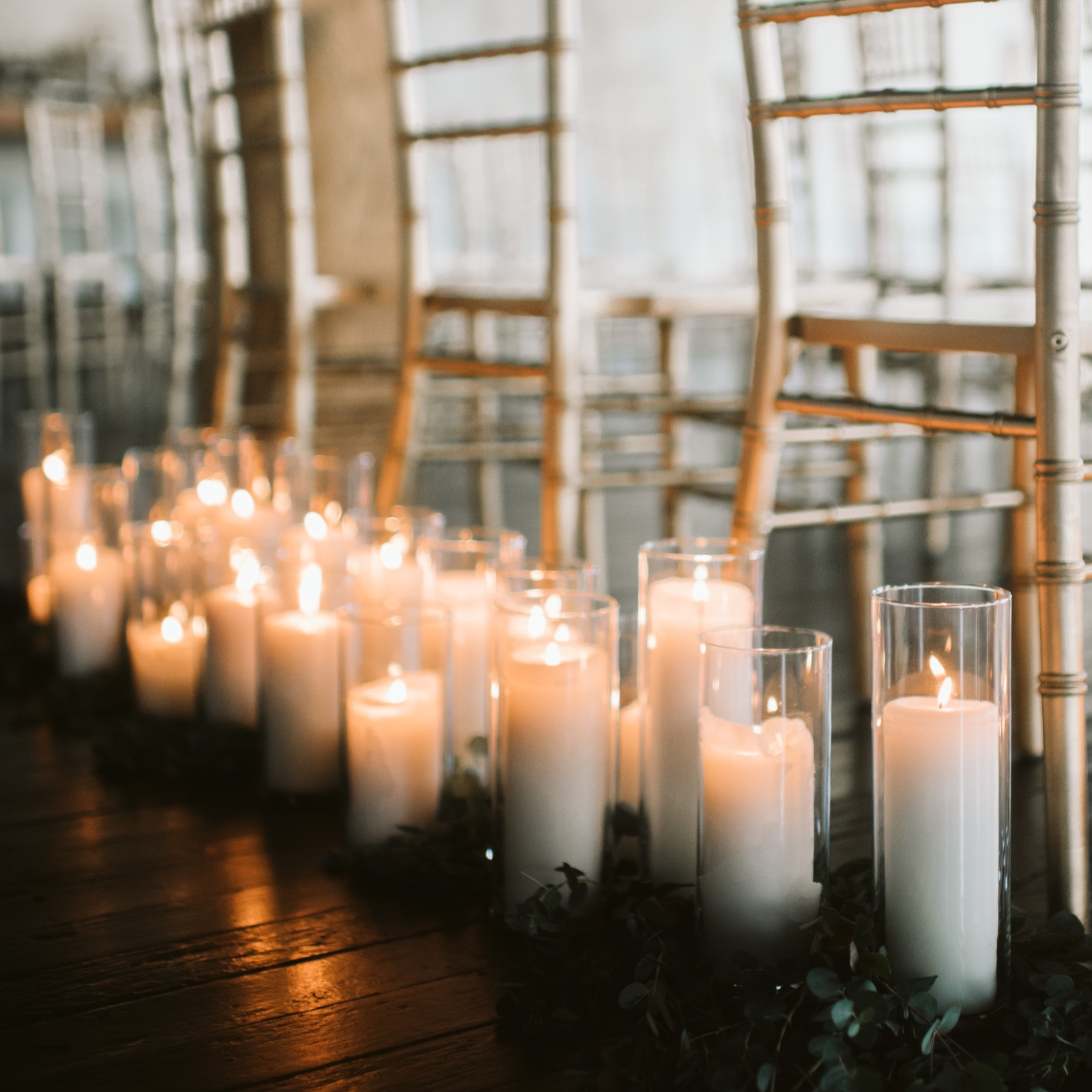 Pillar Candles + Cylinder Holders