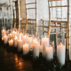 Pillar Candles + Cylinder Holders