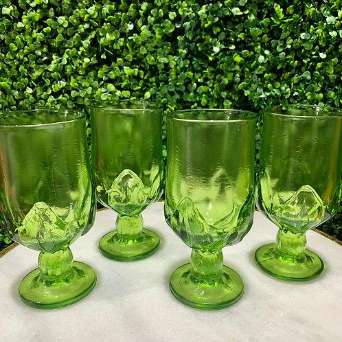 Vibrant Green Goblets