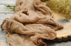 Taupe Cheesecloth Runner