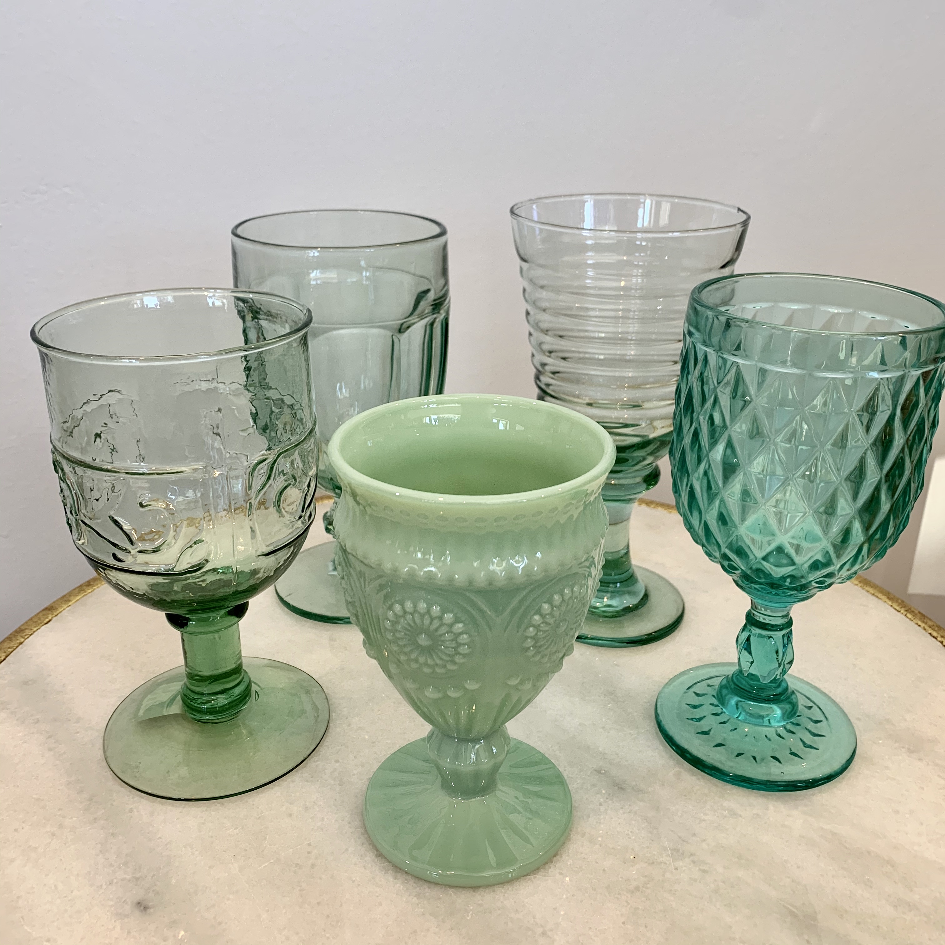 Assorted Seafoam Glasses