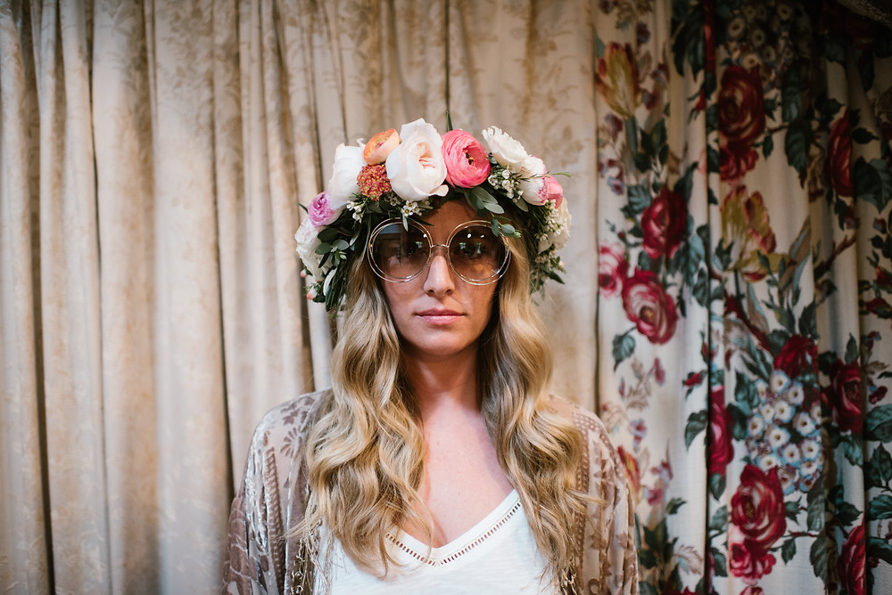 Bohemian Bride Flower Crown