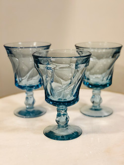 Assorted Light Blue Glasses