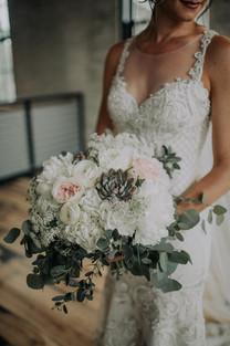 Journeyman Distillery Wedding Day Bridal Bouquet Flowers