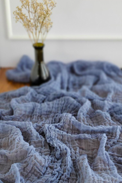 Dusty Blue Cheesecloth Runner