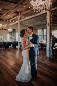 Journeyman Distillery Wedding Day Bride Groom First Dance