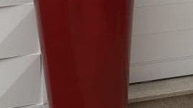 Vaso vitrrificado trapésio na cor vermelho Altgura 60cm boca 30cm