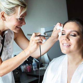 Brautstyling mit Airbrush Make-up #weddi