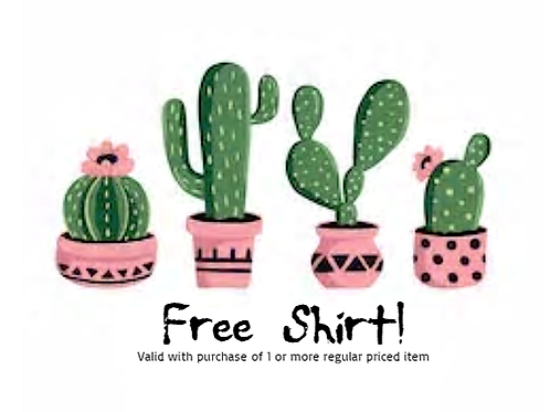 Get 1 FREE Farm Boy/Girl shirt with every valid purchase!