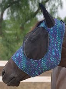 Professional's Choice Lycra Fly Mask - Dragon Scale