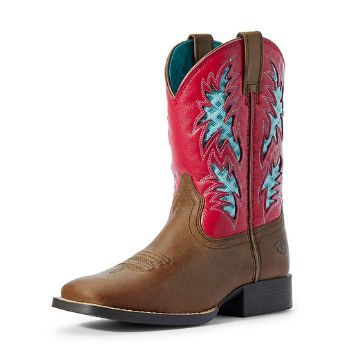 Youth Ariat Cowboy VentTek Boots - Hot Pink