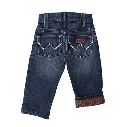 Wrangler Cozy Flannel Infant Jeans