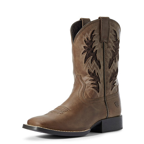 Youth Ariat Cowboy VentTek Boots - Homestead Brown