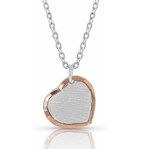 Montana Silversmith Rose Gold Lined Heart Necklace