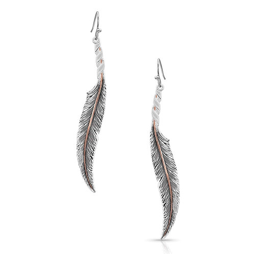 Montana Silversmith Wind Dancer Feather Earings